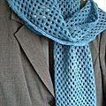 Petits tricots 2013 #3 l'écharpe misty blue