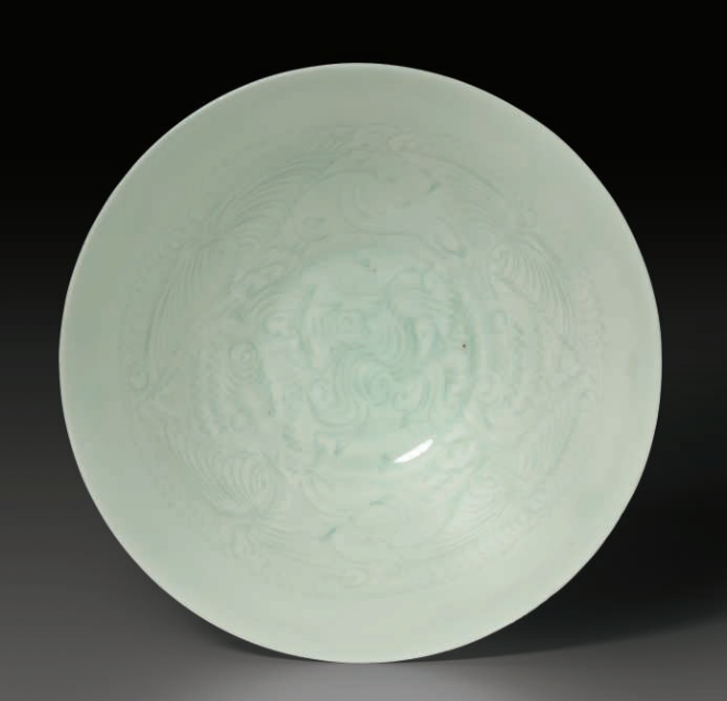 A carved Qingbai shallow 'Boys' bowl, Southern Song Dynasty (1127-1279)