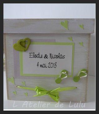 boite a dons pour mariés