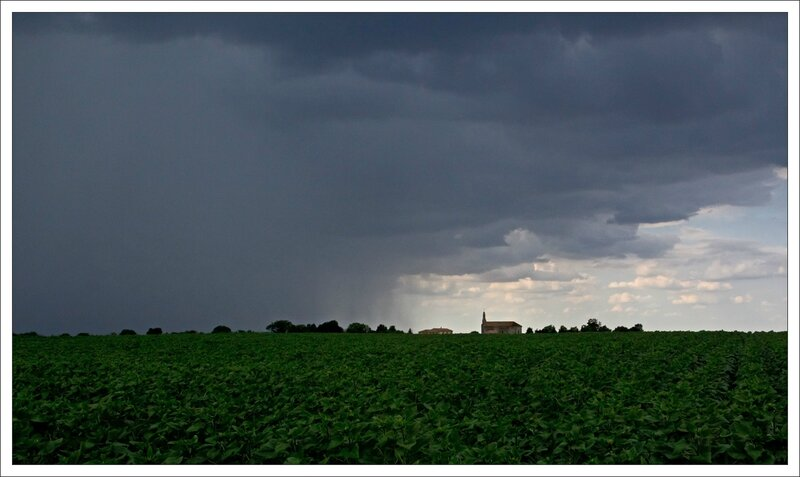 plaine orage eglise tournesol 040714