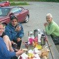 Petit dej' avec une Norvegienne bien sympathique/ Breakfast with