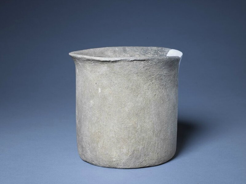 Red pottery cooker, Neolithic, Cishan culture (6500–5000 BC), high 15