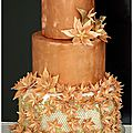 Wedding cake bronze et doré