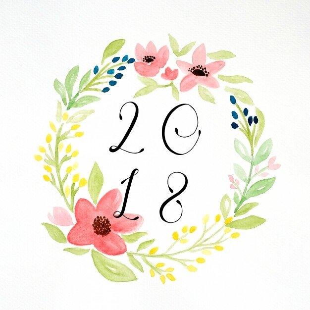 bonne-annee-2018-sur-la-main-peinture-fleurs-guirlande-dans-un-style-aquarelle-sur-fond-de-papier-blanc_7190-586