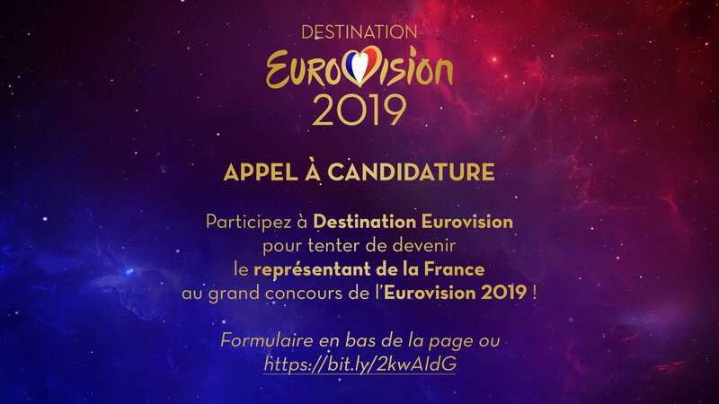 Destination Eurovision - appe candidatures 2