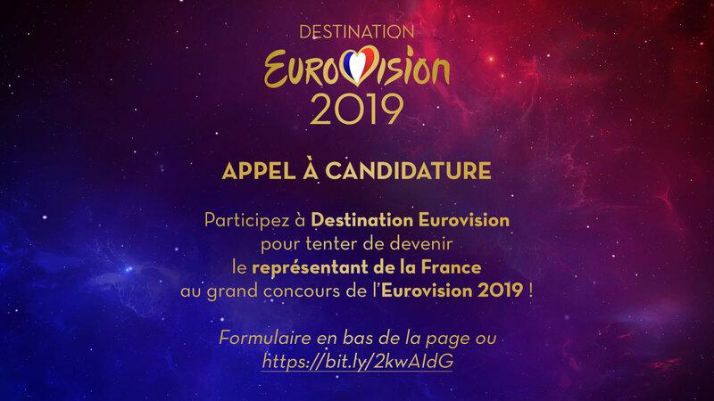 Destination Eurovision - appe candidatures 2