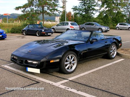 Chevrolet corvette C3 convertible (Rencard Burger King aout 2012) 01