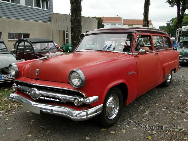 ford mainline 2door ranch wagon 1954 a