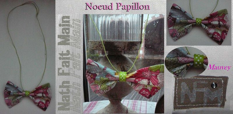 Collier Noeud Papillon Liberty Mauvey