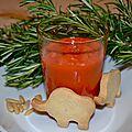 Gaspacho de poivrons rouges de julie (pour 4 personnes)