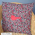 Coussin Rouge-gorge (recto)