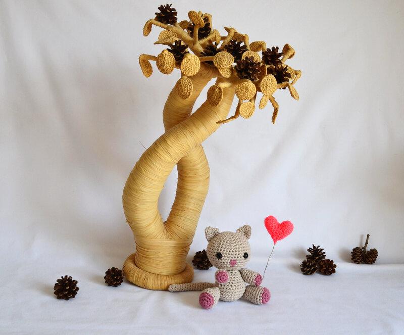 Amigurumi-chat-crochet-laine-animaux-la chouette bricole