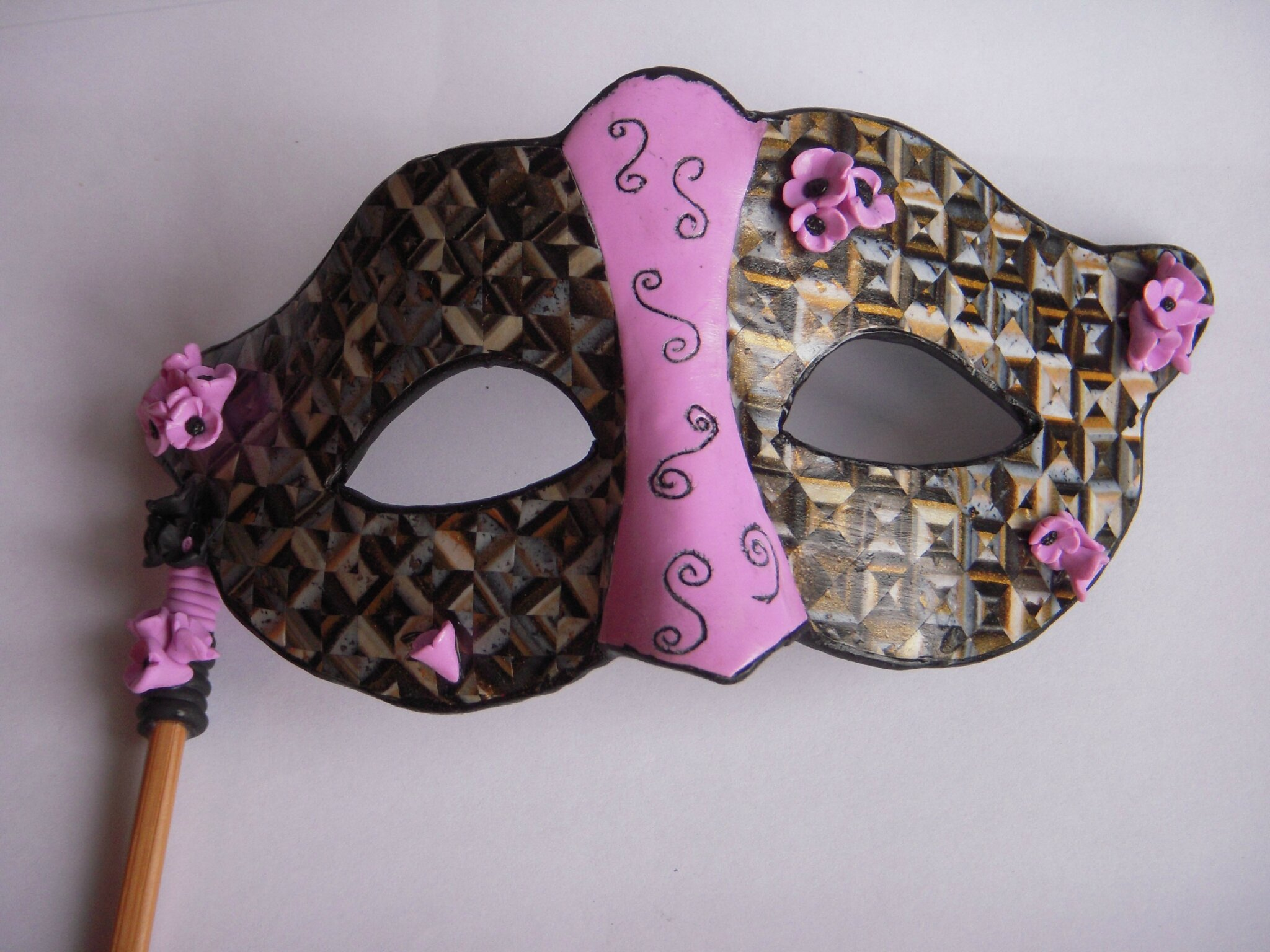 Masque Carnaval entierement en fimo