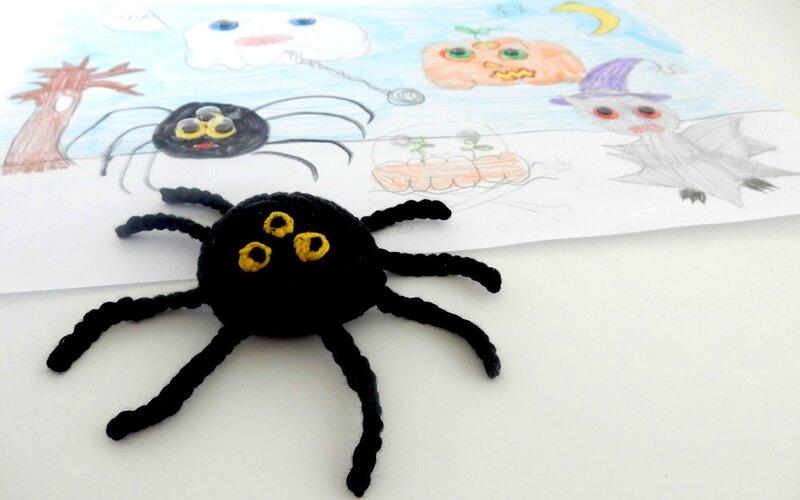 araignée d'après un dessin de Léonore - Anisbee