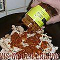 Pizza au poulet massalé, champignons, poivrons & mozzarella