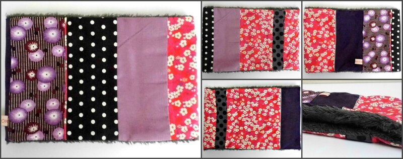 Snood liberty mitsi coquelicots petit pan violet