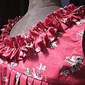 Robe BRUNE en coton rouge imprimé coquelicots (6)