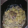Rouelle de porc a la moutarde avec ses oignons et champignons