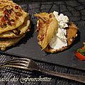 Pancakes ensoleillés farcis au fromage frais