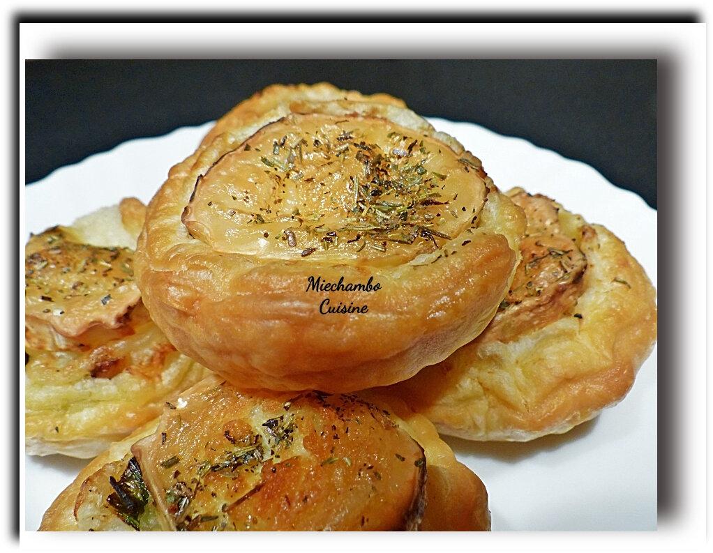 Tartelettes aux poireaux et au fromage de chèvre