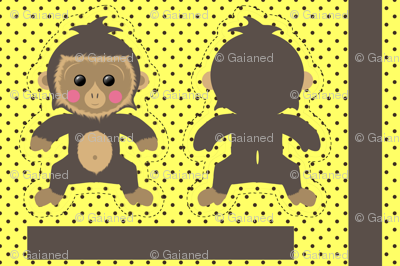 Motif Little Monkey sur Spoonflower