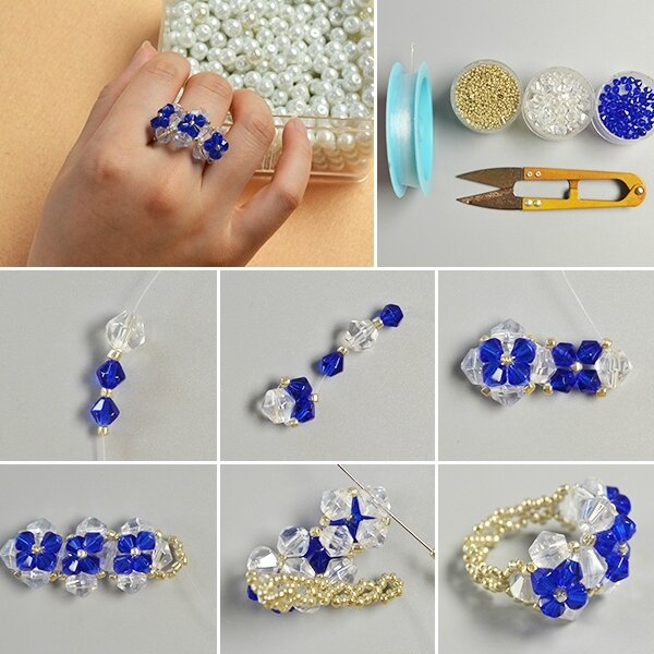 600-Easy-Jewelry-Making-Ideas-on-How-to-Make-Fresh-Glass-Bead-Ring-for-Girls