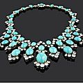 A turquoise and diamond necklace, by bulgari, 1960s