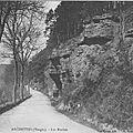 Archettes, les roches route d'Epinal