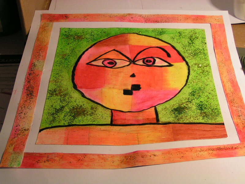 5-Chaud Froid-Portraits inspiration Paul Klee (34)