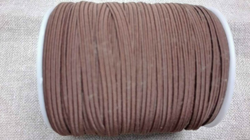 Elastique 6 mm marron