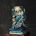Divinité taoïste, probablement guandi, chine, ca 17° siècle
