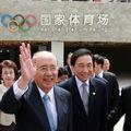 Le président du Kuomintang Wu Poh-hsiung visite les sites olympiques de Beijing