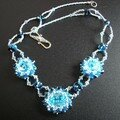 Collier aquamarine