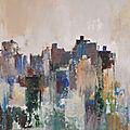 La ville 5 acrylique marouflé sur toile 50 x 65 cm 2015