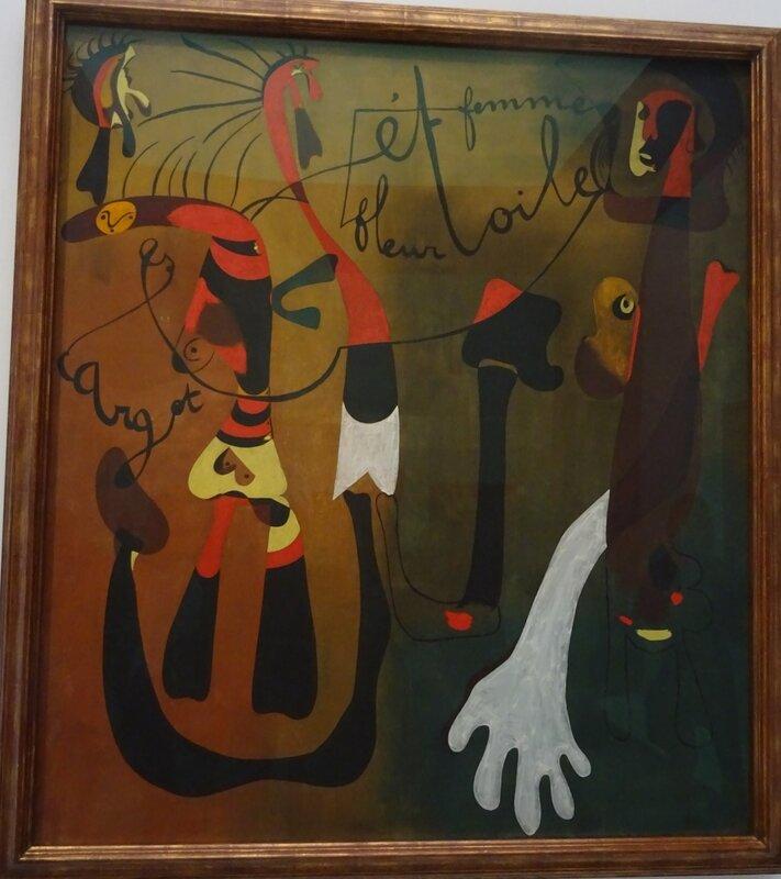 Miró Peinrure Escargot femme fleur étoile 1934