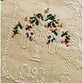 Shabby Advent Calendar 19 Cuore e Batticuore - il punto croce
