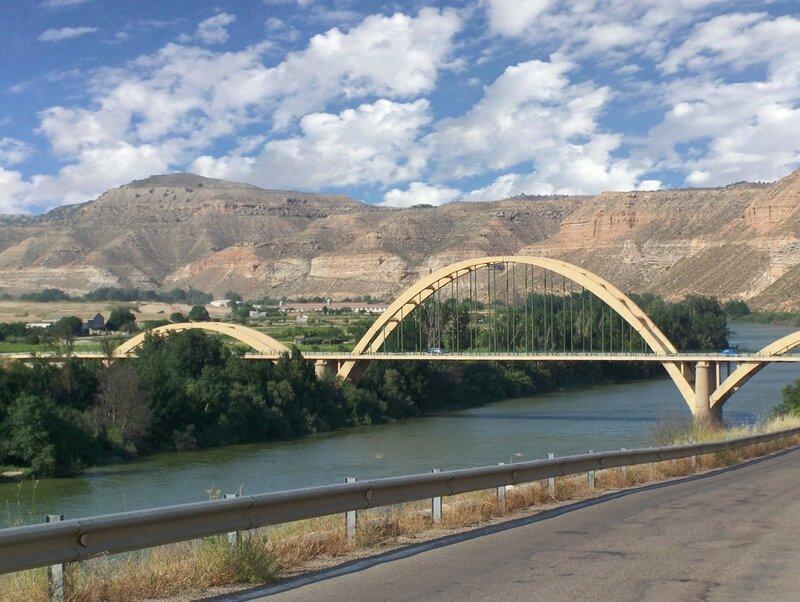 pont traversant l'ebre en direction de sastago