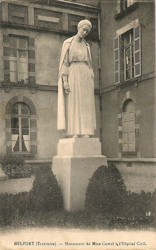 CPA Belfort Statue Edith Cavell