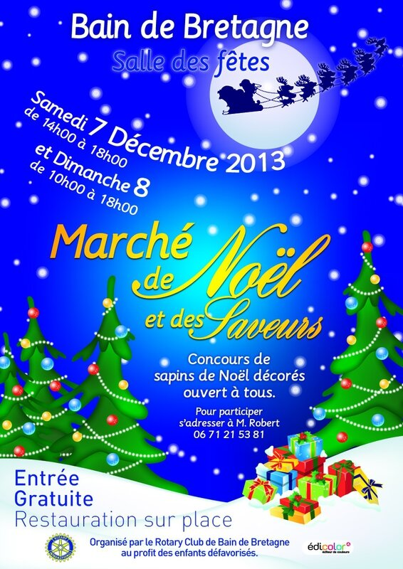 AFFICHE ROTARY NOEL 2013