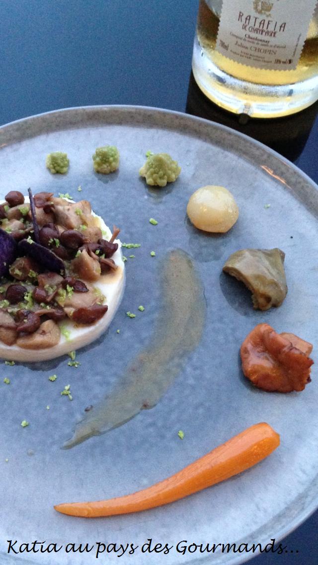 Trophée Julien CHOPIN : Ris de veau aux mousserons sur mousseline de céleri, sauce au ratafia et légumes de saison