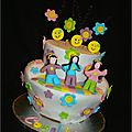 Gâteau Flower power hippie cake