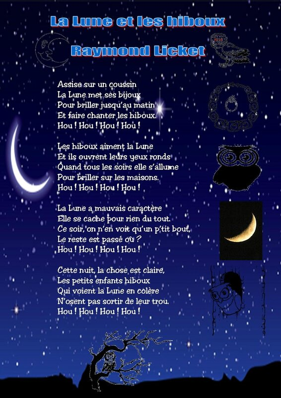 la lune et les hiboux