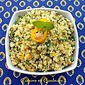 Salade de quinoa et chou fleur cru, façon boulghour