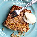 Crumble cake aux mirabelles