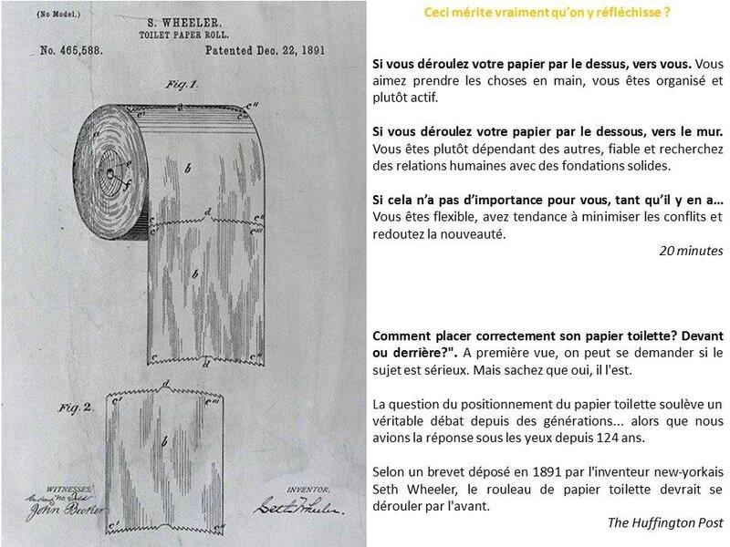 papier Q toilette wc dans quel sens le positionner orientation