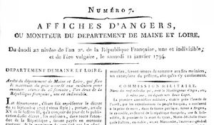 Affiches Angers 1794