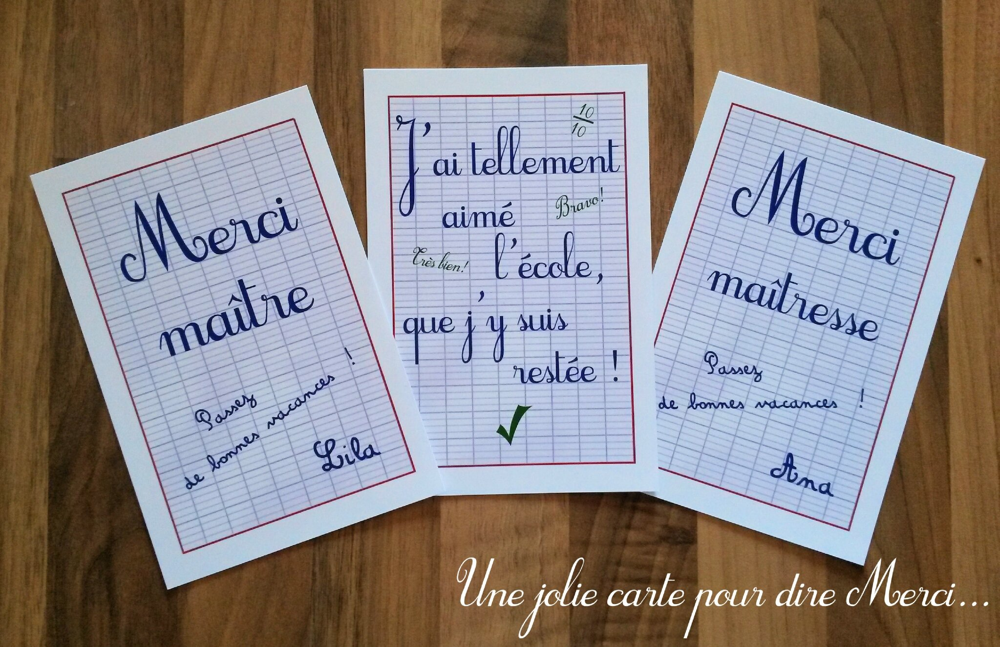 cartes merci