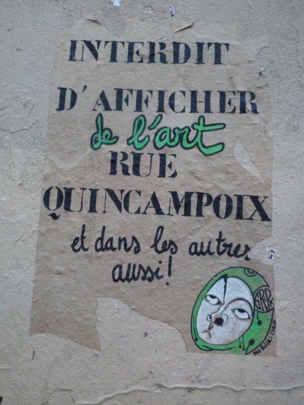 No Rules Corp'art-Rue Quincampoix