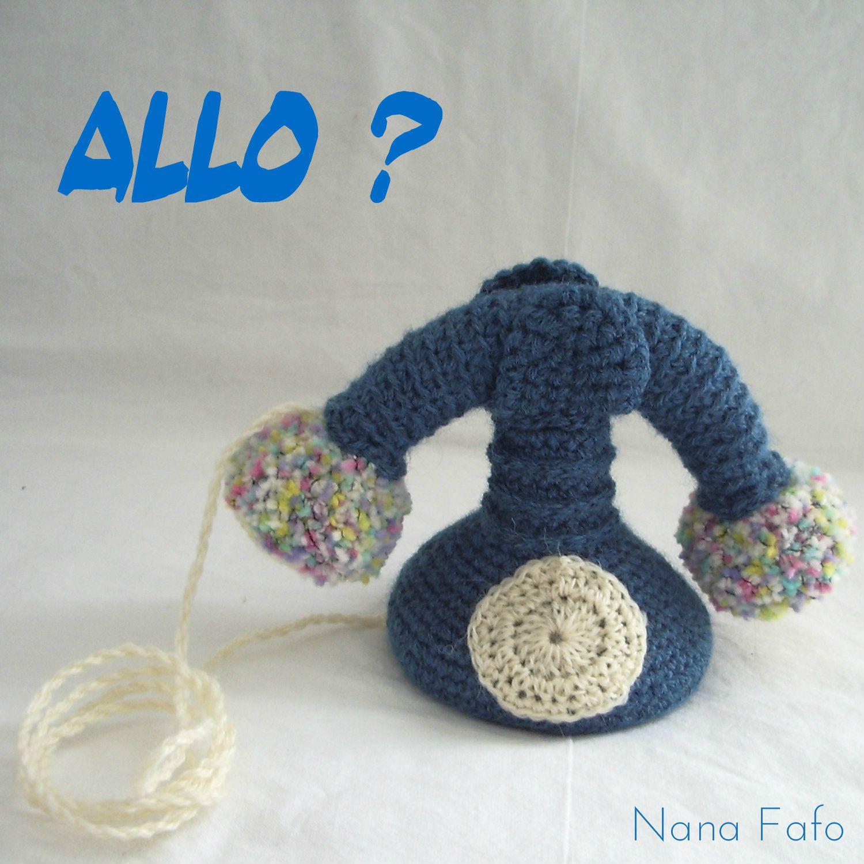 telephone au crochet allo