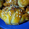 Mini croissants au chorizo